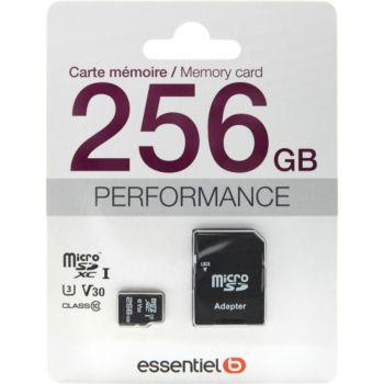 Essentielb Micro SDXC 256Go Performances