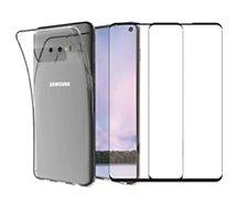 Pack Essentielb  Samsung S10 Coque + Verre trempé x2