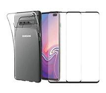 Pack Essentielb  Samsung S10+ Coque + Verre trempé x2