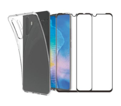 Pack Essentielb Huawei P Smart 2019 Coque + Verre trempé