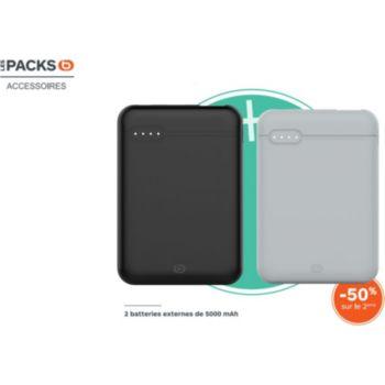 Essentielb Pack de 2 batteries 5000mAh