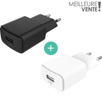 Essentielb x2 chargeurs USB