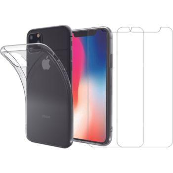 Essentielb iPhone 11 Pro Coque + Verre trempé x2