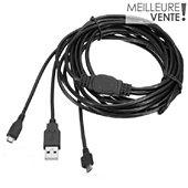Câble de recharge Skillkorp Cable de charge pour 2 manettes PS4