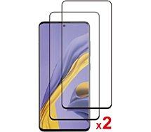 Protège écran Essentielb  Samsung A51 Verre trempé intégral x2