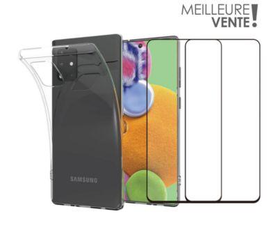 Pack Essentielb Samsung A51 Coque + Verre trempé x2