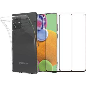 Essentielb Samsung A51 Coque + Verre trempé x2