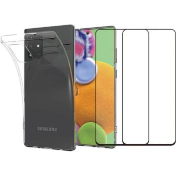 Essentielb Samsung A71 Coque + Verre trempé x2