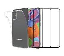 Pack Essentielb  Samsung S20 Coque + verre trempé x2