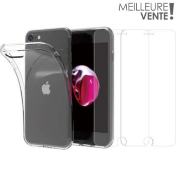 Essentielb iPhone 6/7/8/SE Coque + Verre trempé x2