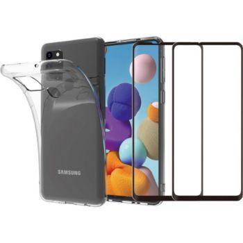 Essentielb Samsung A21s Coque + Verre trempé x2