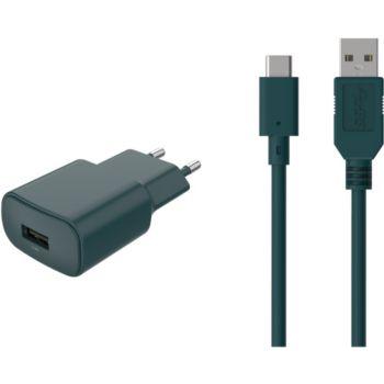 Essentielb 2.4A + USB  C - Vert