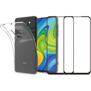 Essentielb Xiaomi Note 9 Coque + Verre trempé x2
