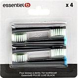 Brossette dentaire Essentielb  pack 4 brossettes noir pour Pulselux