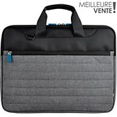 Sacoche Essentielb 15-16'' Classic gris/bleu