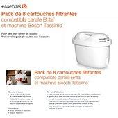 Cartouche filtrante Essentielb Cartouches pour carafe filtrante x 8