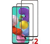 Protège écran Essentielb  Samsung A52 Verre trempé intégral x2