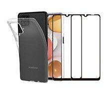 Pack Essentielb  Samsung A12 Coque + Verre trempé x2