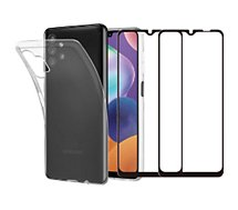 Pack Essentielb  Samsung A32 5G Coque + Verre trempé x2