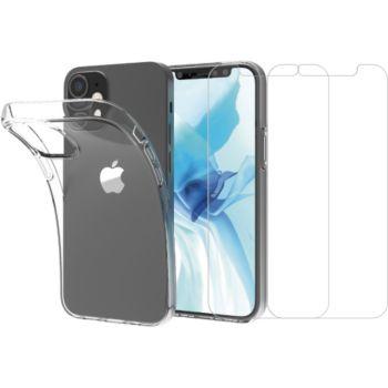 Essentielb iPhone 12/12 Pro Coque + Verre trempé x2