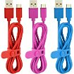 Câble micro USB Essentielb x3 Bleu Rouge Rose