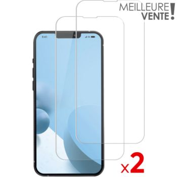 Essentielb iPhone 13/13 Pro Verre trempé x2