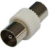 Adaptateur antenne TV Listo Coax M 9mm/Coax F 9.5mm
