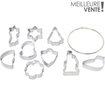 Essentielb Lot de 9 en métal 5x5.5cm