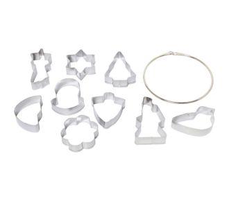 Essentielb 9 emportes piece en métal 5x5.5cm