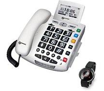 Téléphone filaire Geemarc  Serenities Blanc