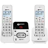 Téléphone sans fil Geemarc Amplidect 295-2 Blanc