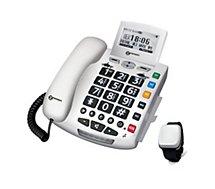 Téléphone filaire Geemarc Serenities Blanc Détection Chute