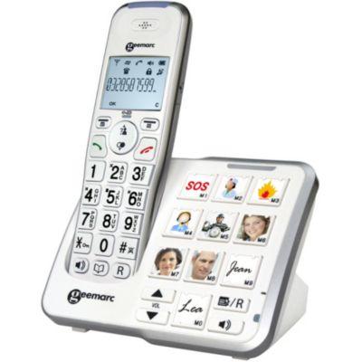 T l phone fixe pour senior happy achat boulanger - Telephone sans fil avec repondeur pour senior ...