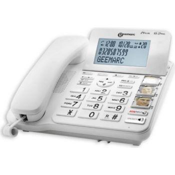 Geemarc Téléphone fixe grosses touches et photos