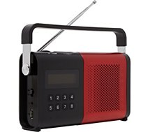 Radio analogique Schneider Movimo rouge