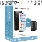 Smartphone Huawei Pack Psmart 2021 Noir+Enceinte CM510