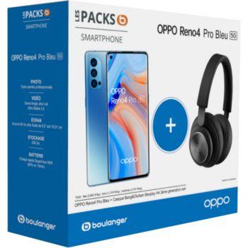 Oppo Pack Reno 4 Pro Bleu 5G + Casque B&O