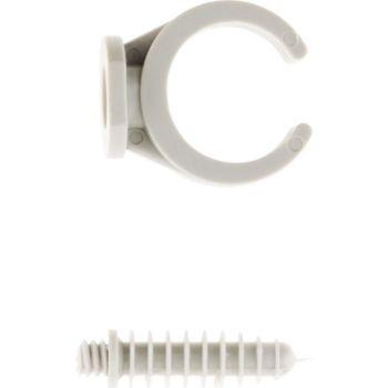 Zenitech Lot de 10 Clips Ø25 mm avec chevilles -