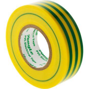 Zenitech Rouleau adhésif 19mm x 20m Vert/Jaune -