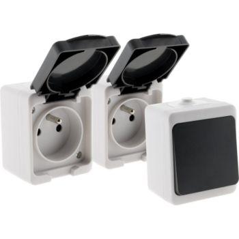 Zenitech Lot IP54 - mini: 1 V&V + 2Prises 2P+T