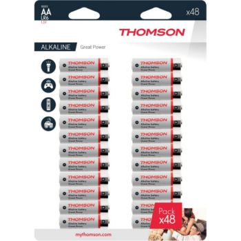 Thomson Lot de 48 piles AA LR06 - Thomson