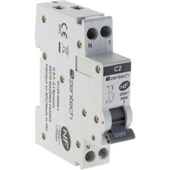 Zenitech Disjoncteur PH/N - 2A NF pour cumulus et