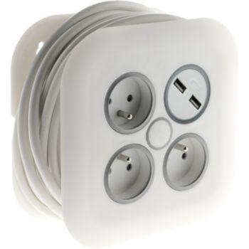 Zenitech 7M  3x16A + 2 USB 2,1A