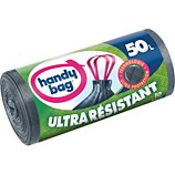 Sac poubelle Handy Bag  10 sacs de 50L poignees coulissantes