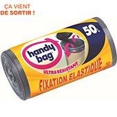 Sac poubelle Handy Bag 10 sacs de 50L fixation élastique