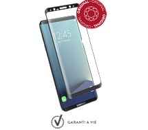 Protège écran Force Glass Galaxy S8+ contour noir