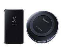 Pack Samsung Clear View S9 noir + Pad induction
