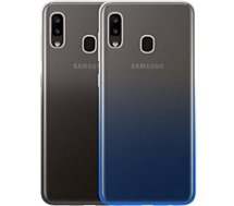 Coque Bigben  Samsung A20e Gradient noir/bleu