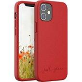Coque Just Green iPhone 12 mini Bio rouge