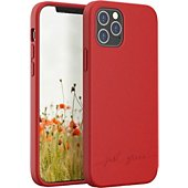 Coque Just Green iPhone 12/12 Pro Bio rouge